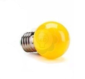 Lâmpada Bulbo LED Bolinha 1w E27 Amarela