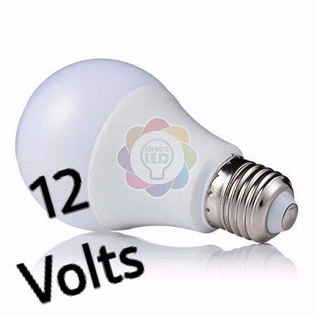 Lâmpada Bulbo LED 12 Volts com Potência de 9w Branca Fria