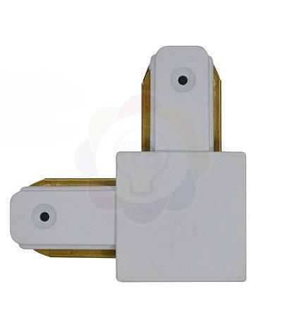 Conexão/emenda L para Trilho Eletrificado Branco