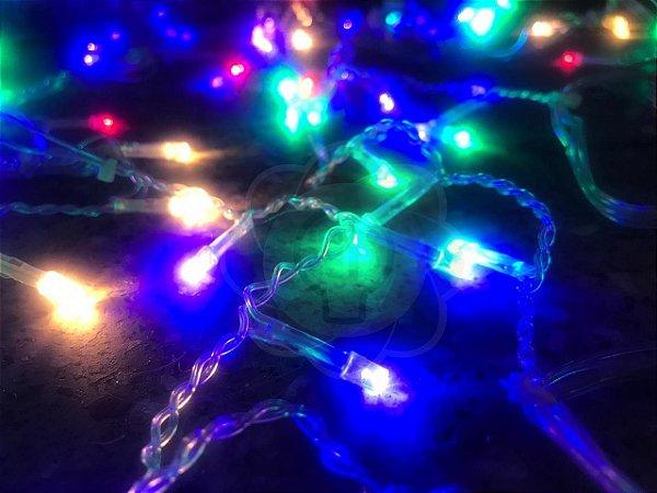 Luzinha de Natal Pisca Pisca 9,7m com 100 Leds Colorido (RGB) 110v