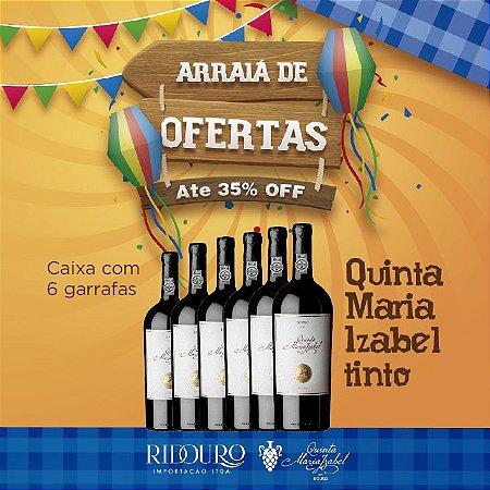 PROMOÇÃO DE SÃO JOÃO - Quinta Maria Izabel, 2012, tinto, 750ml, caixa com 6 garrafas
