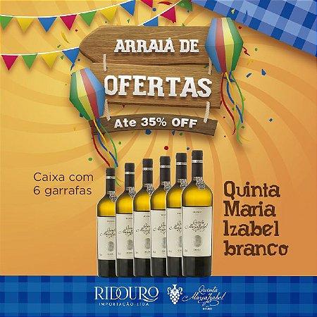 PROMOÇÃO DE SÃO JOÃO - Quinta Maria Izabel, 2017, branco, 750ml, caixa com 6 garrafas
