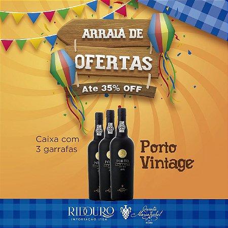 PROMOÇÃO DE SÃO JOÃO - Quinta Maria Izabel, Porto Vintage 2012, 750ml, caixa com 3 garrafas