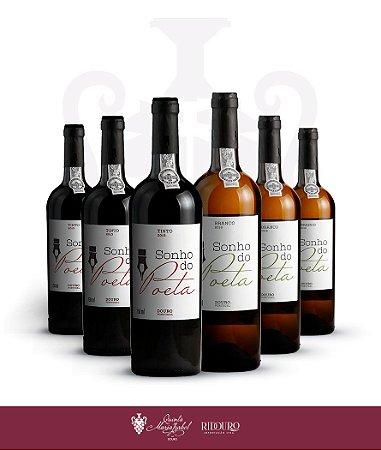 Sonho do Poeta, 750ml, em caixa com 6 garrafas de vinho tinto e/ou branco