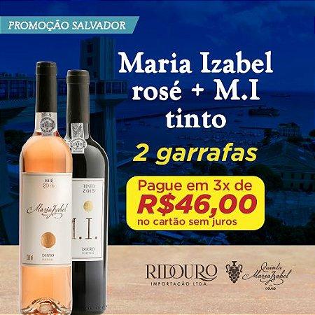 PROMO SALVADOR - 1 GARRAFA DE MARIA IZABEL ROSÉ + 1 GARRAFA DE MI TINTO