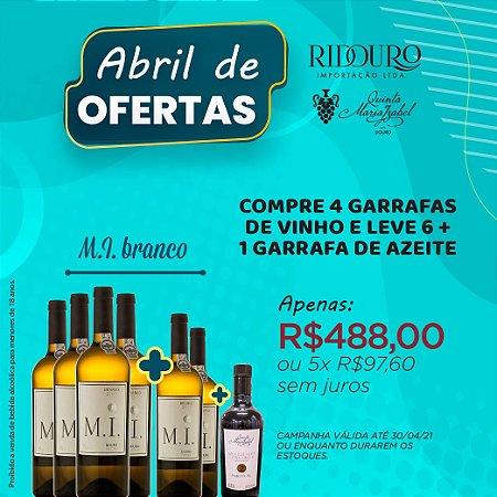 ABRIL DE OFERTAS - M.I. 2019, branco, 750ml, caixa 4+2 garrafas+1 garrafa de Azeite