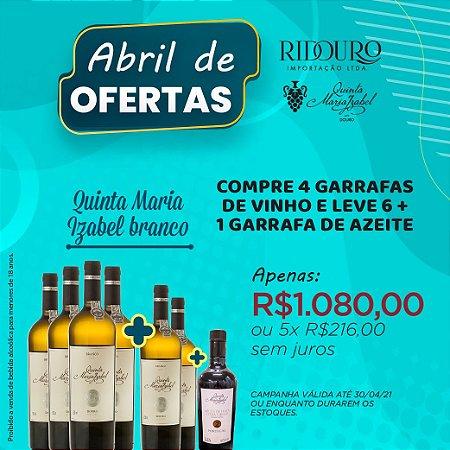 ABRIL DE OFERTAS - QUINTA MARIA IZABEL, 2018, branco, 750ml, 4+2 garrafas+1 garrafa de Azeite