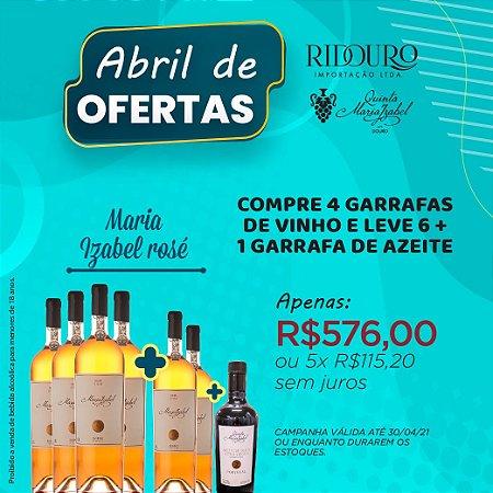ABRIL DE OFERTAS - MARIA IZABEL 2017, rosé, 750ml, 4+2 garrafas+1 garrafa de Azeite