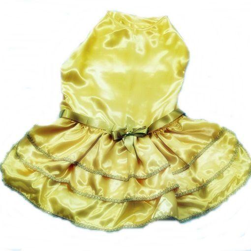 Vestido de Festa Dourado Tamanho 8