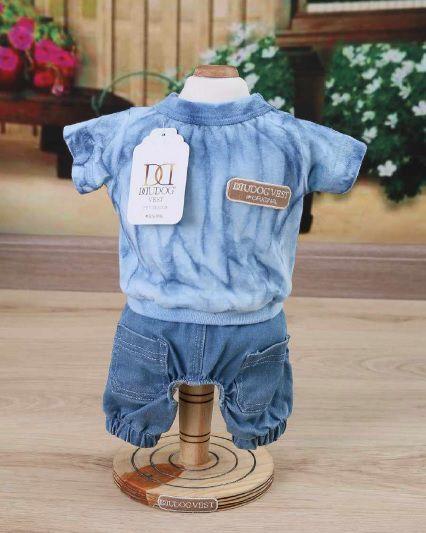 Bermuda Jeans e Blusa Azul TD