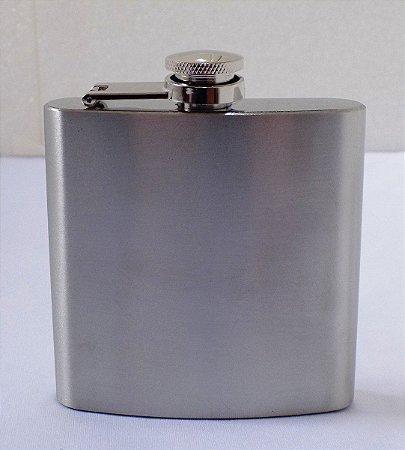 Porta Bebida Cantil Inox De Bolso