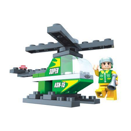 Blocos De Montar Helicoptero 33 Peças Brinquedo Play Cis
