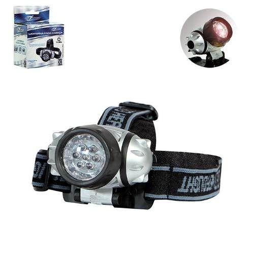 Lanterna De Cabeça 7 Leds Alças Elasticas Art Sport