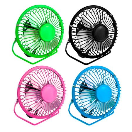 Mini Ventilador de Mesa USB Color 4 Pas