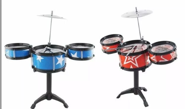 MINI BATERIA MUSICAL INFANTIL JAZZ DRUM