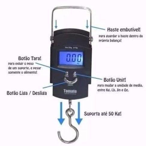 Balança Domestica Bagagem de Mão Digital até 50 kilos