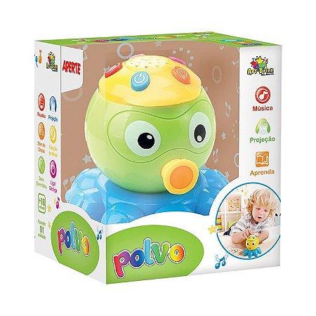 Polvo Musical Infantil Brinquedo com efeitos sonoros música e luz Art Brink