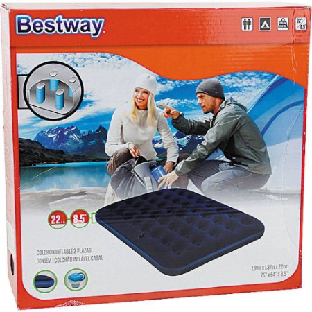 Colchão Inflável Casal Double Flocked Bestway