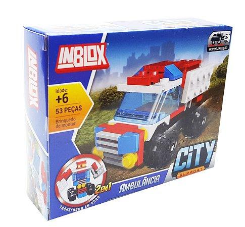 Blocos de Montar City Support Ambulância  AKT3290 Inblox 53pçs