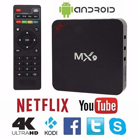SMART TV OTT BOX MX9 ANDROID TV QUAD CORE WIFI 4K
