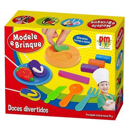 Massinha De Modelar Doces Divertidos Modele e Brinque Dm Toys