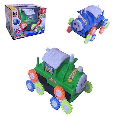 Brinquedo Carrinho Cambalhota a Pilha Trenzinho Trem Cartoon Toys
