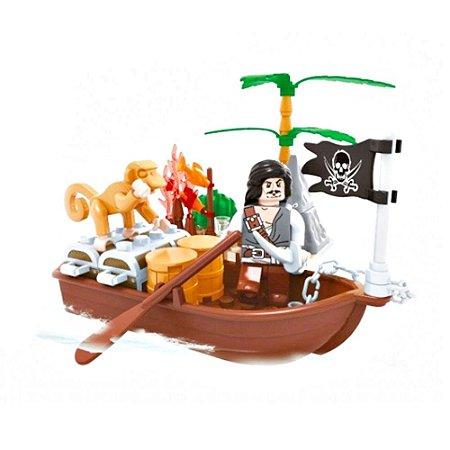 Blocos de Montar Piratas Barco do Tesouro 62 Peças 0508-7 Xalingo brinquedos