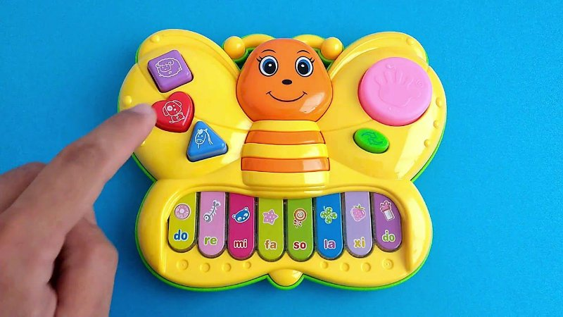 Brinquedo Teclado Musical Infantil Borboleta Piano Butterfly