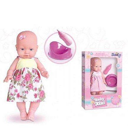 Boneca Baby faz Xixi no Piniquinho Nova Toys