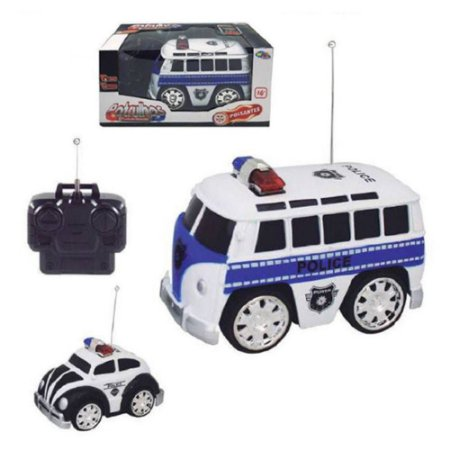 Carro Controle Remoto 7 Funções Kombi Police Well kids