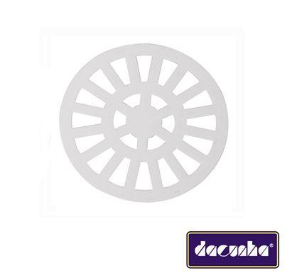 Dacunha Grelha Plastica Branca Fixa Redonda Dn 150