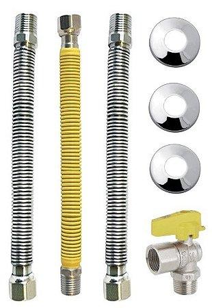 Kit Instalacao Aquecedor A Gas 30 Cm Dn 3/4