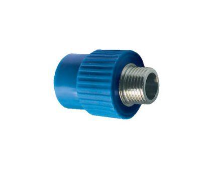Tf Conector Com Rosca Macho Ppr Azul