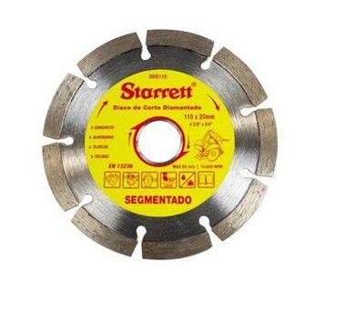 Starrett Disco De Corte Diamantado Segmentado 110Mm