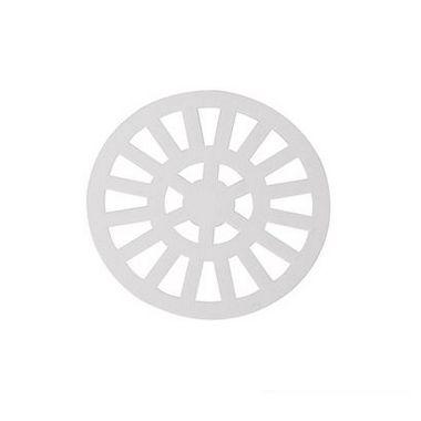 Dacunha Grelha Plastica Branca Fixa Redonda Dn 100