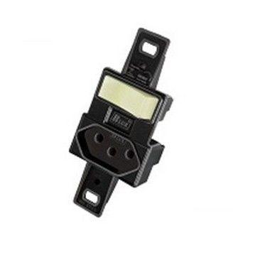 Blux Interruptor Simples + Tomada 10A Preta