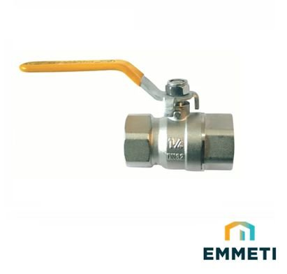 Emmeti Valvula Esfera Alavanca P/Gas F/F Dn 2.1/2