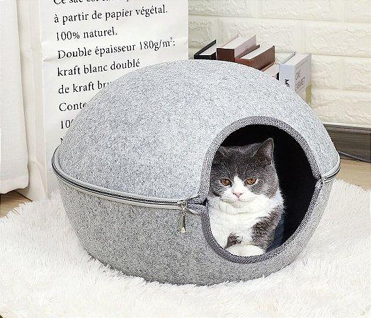 Cama Casulo Feltro para Gatos
