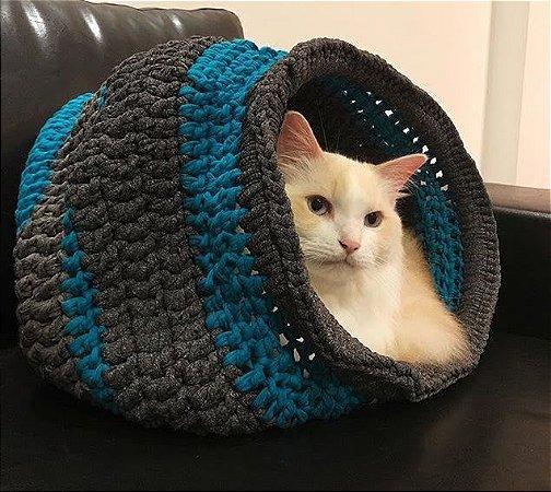 Toca Casulo Maxi Crochê para Gato