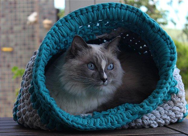 Toca Maxi Crochê para Gato