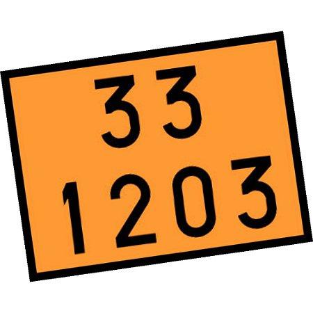 Placa de Sinalização 33 1203 Gasolina Plastcor