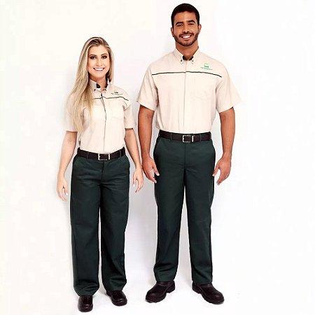 Br31 Uniforme Profissional Camisa Gerente Unissex Manga Curta Petrobras