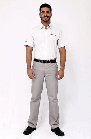 Camisa Uniforme Farda Gerente Brmania Manga Curta Masculino