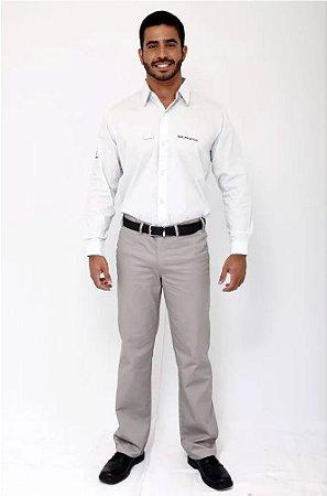 Camisa Uniforme Farda Gerente Brmania Manga Longa Masculino