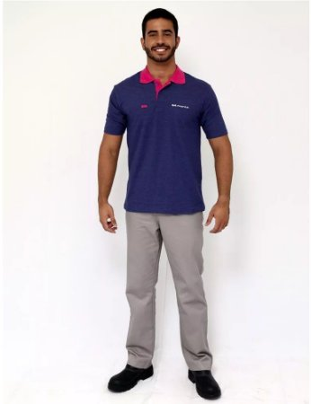 Camisa Uniforme Farda Promotor Brmania Manga Curta Masculino