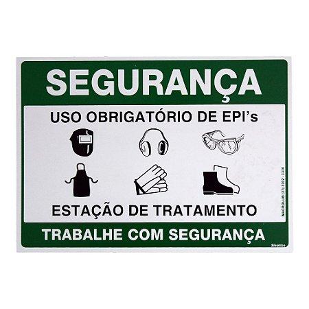 Placa de Sinalização Uso Obrigatório de EPI's Macrolub