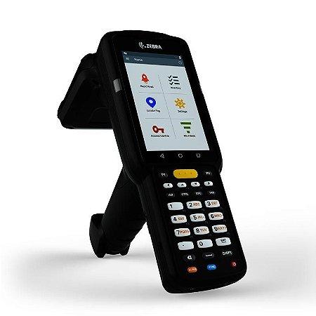 Coletor de Dados Zebra MC3330R 2D QR Code Imager RFID - Touch 4 Polegadas, Android 7.0 - Pistola Gun