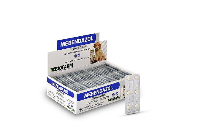 Mebendazol Cães E Gatos Biofarm Strip com 6 comprimidos