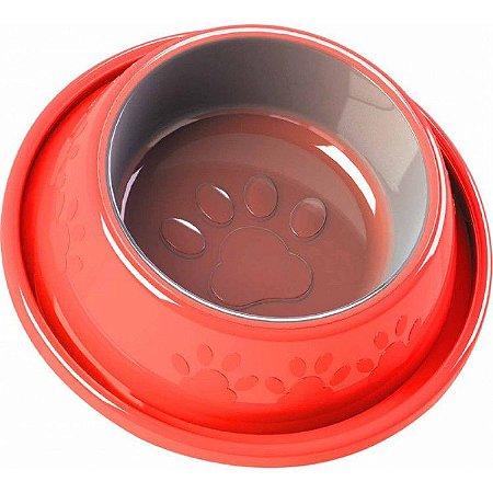 Comedouro Plástico Antiformiga Vermelho Tamanho G