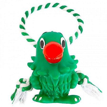 Brinquedo Mordedor Papagaio C/ Corda Interativa P Cães